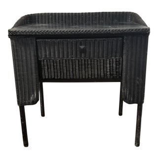 Victorian Wicker Desk and Chair For Sale