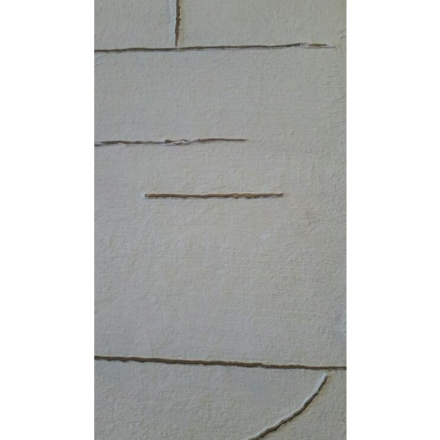 2010s Gesso Art Triptych by Paul Marra For Sale - Image 5 of 7