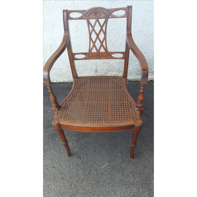 Cane Seat Armchairs - A Pair - Image 5 of 9