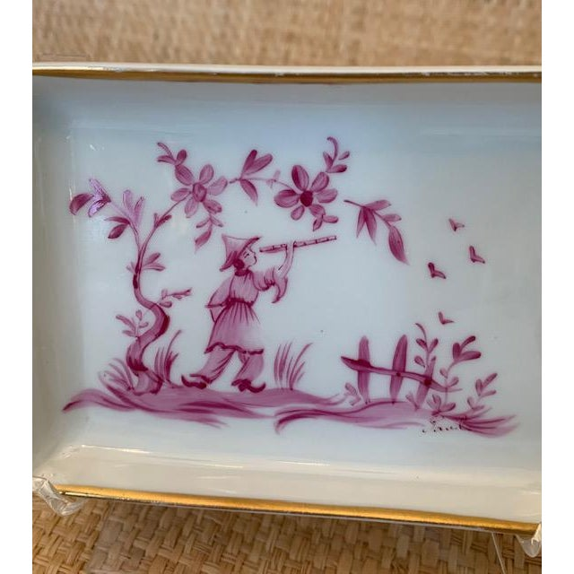 Limoges, France 1960s Limoges Chinoiserie Trinket Dish For Sale - Image 4 of 7