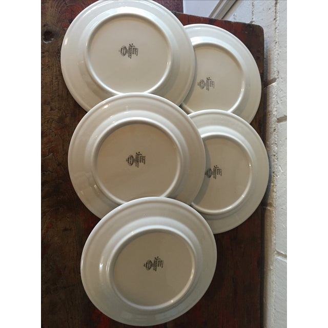Restaurant Ware Plates with Castle - Set of 6 - Image 8 of 8