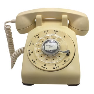 Vintage 1961 Ivory Western Electric Rotary Dial Telephone