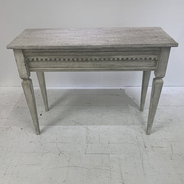 1990s Custom Console With Antique Pediment For Sale - Image 13 of 13
