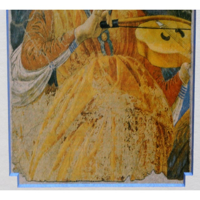 Italian Late 20th Century Print of Angel With Violin, Fresco Fragment For Sale - Image 3 of 6