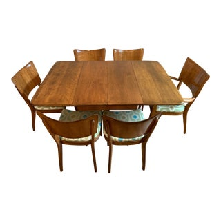Mid-Century Modern Heywood-Wakefield Butterfly Dining Set - 7 Pieces For Sale