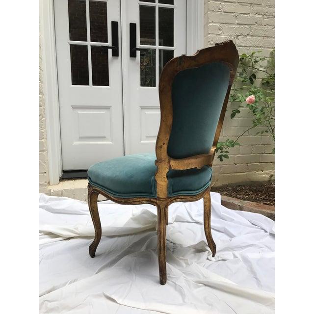 Gold Leaf Antique Gilt Ballroom Chair For Sale - Image 7 of 11