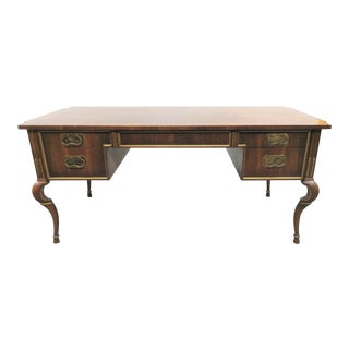 Tomlinson Mid Century Rosewood Walnut & Gilt Desk For Sale