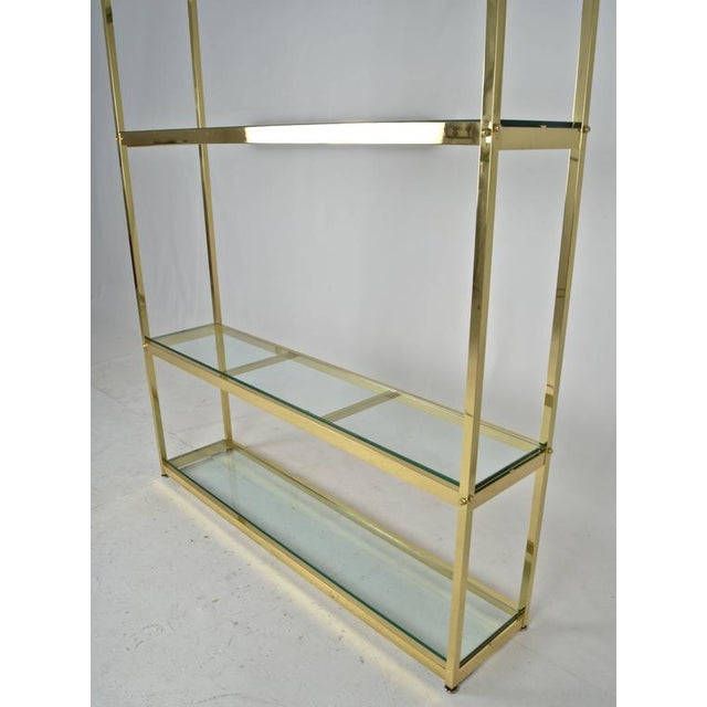 Mid-Century Modern Early 20th Century Brass Étagère For Sale - Image 3 of 7