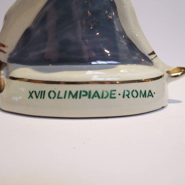 1960s Rome Olympics Glazed Porcelain Sports Figures - Set of 4 For Sale - Image 10 of 12