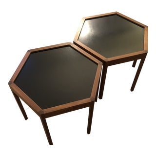 Danish Modern Hexagonal End Tables by Hans Andersen For Sale