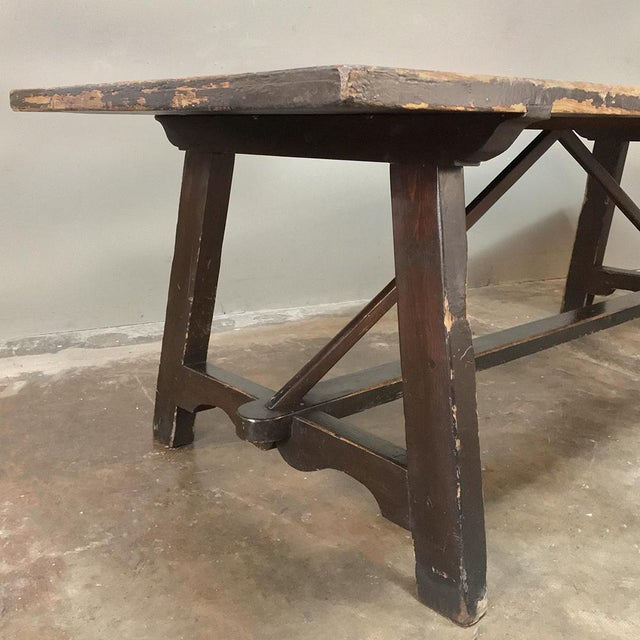 Marble 19th Century Spanish Table With Marble Tiles For Sale - Image 7 of 13