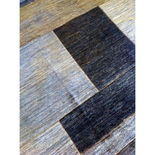 Monochrome Gabbeh Rug - 6′7″ × 9′7″ - Image 3 of 4