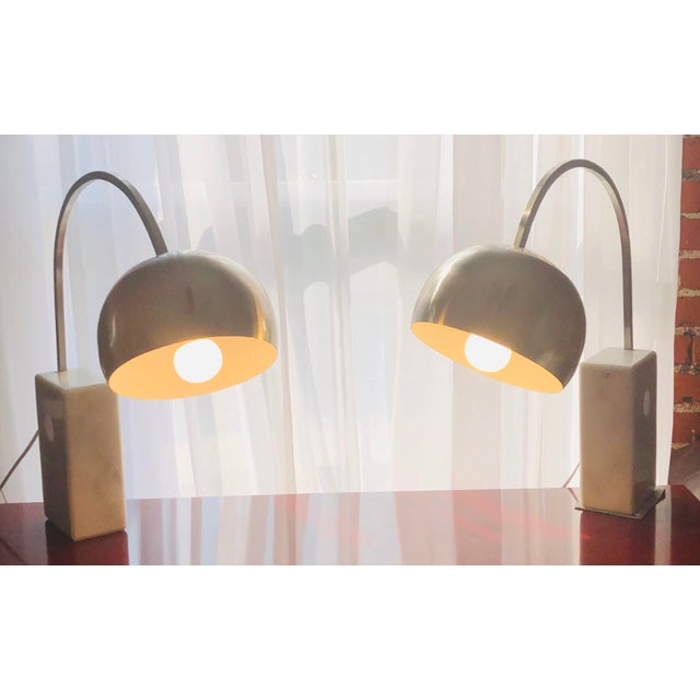 Italian Mid Century Modern Arco Desk Lamps - a Pair For Sale - Image 12 of 12