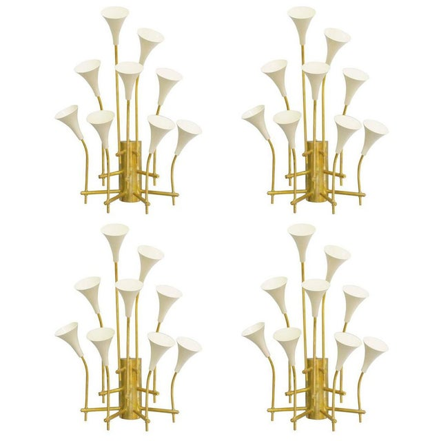 Two Pairs of Trumpets Sconces by Fabio Ltd For Sale - Image 9 of 10