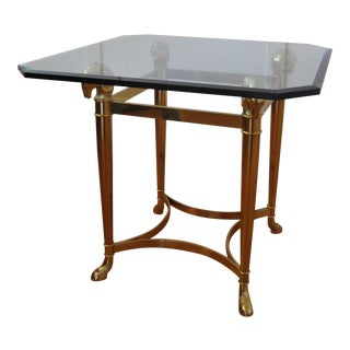 La Barge Ram's Head & Hoof Brass Side Table For Sale