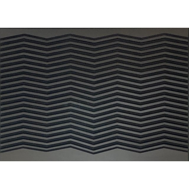 "Doug DaFoe Doug DaFoe ""Chevron Grey"", Wall Sculpture For Sale - Image 4 of 4"