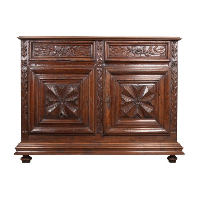 French 18th Century Louis XIII-Style Walnut Buffet For Sale