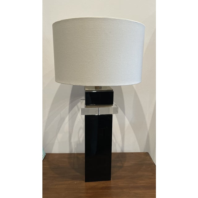 1970s Lucite Table Lamp For Sale In Los Angeles - Image 6 of 6