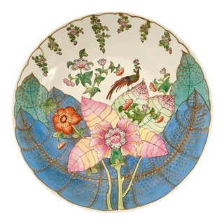 Chinoiserie Large Tobacco Leaf Platter For Sale