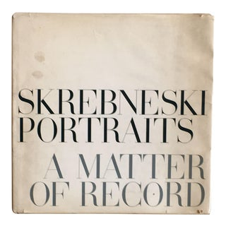 Victor Skrebneski Portraits: A Matter of Record Photography Book For Sale