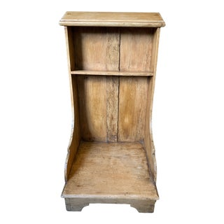 1910s Rustic Wooden French Kneeler For Sale
