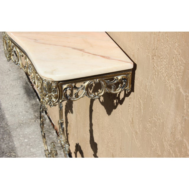 1900s French Louis XVI Bronze Console Table For Sale - Image 4 of 13