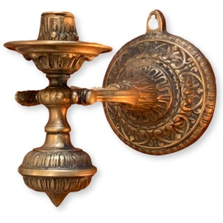 Antique Brass Gimbal Wall Sconce Candle Holder Preview