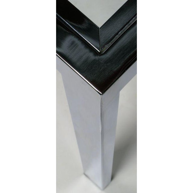 Chromed Steel Parsons Style Dining Table By Milo Baughman - Image 6 of 8