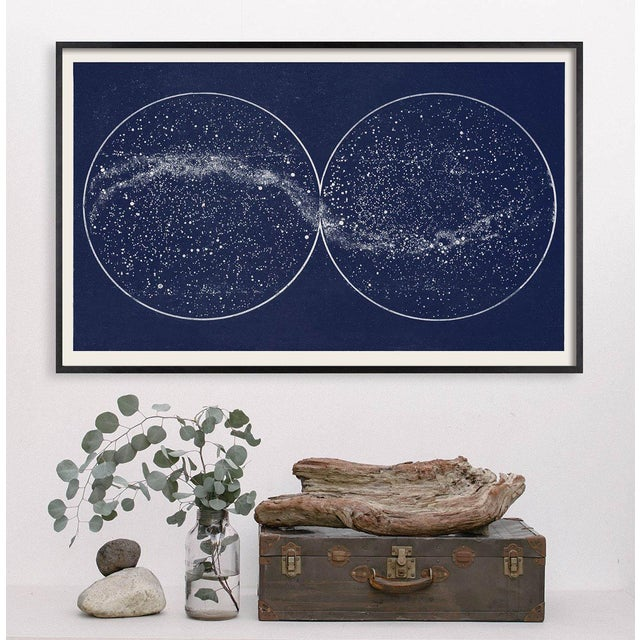 This wide format print is based on a restored and very rare French Antique Constellation Map from 1922, and is elegant and...