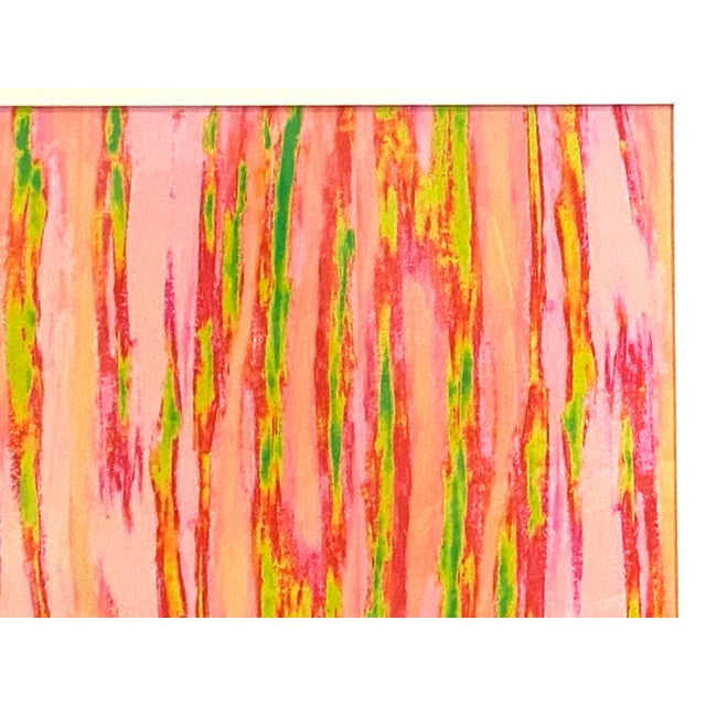 """Abstract Pink Green """"Enlightened Terrain"""" Artist's Print by Suga Lane For Sale - Image 11 of 13"""