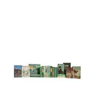 Green Summer Readings for Kids : Set of Twenty Decorative Books For Sale