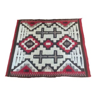 "1920s Antique Navajo Ganado Blanket Measures 3'9""x4'1"" For Sale"