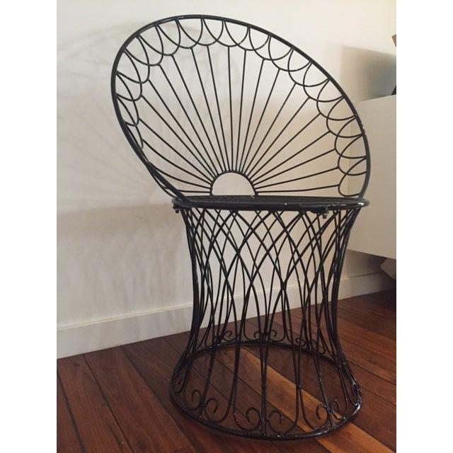 Vintage BoHo Metal Peacock Chair - Image 4 of 6