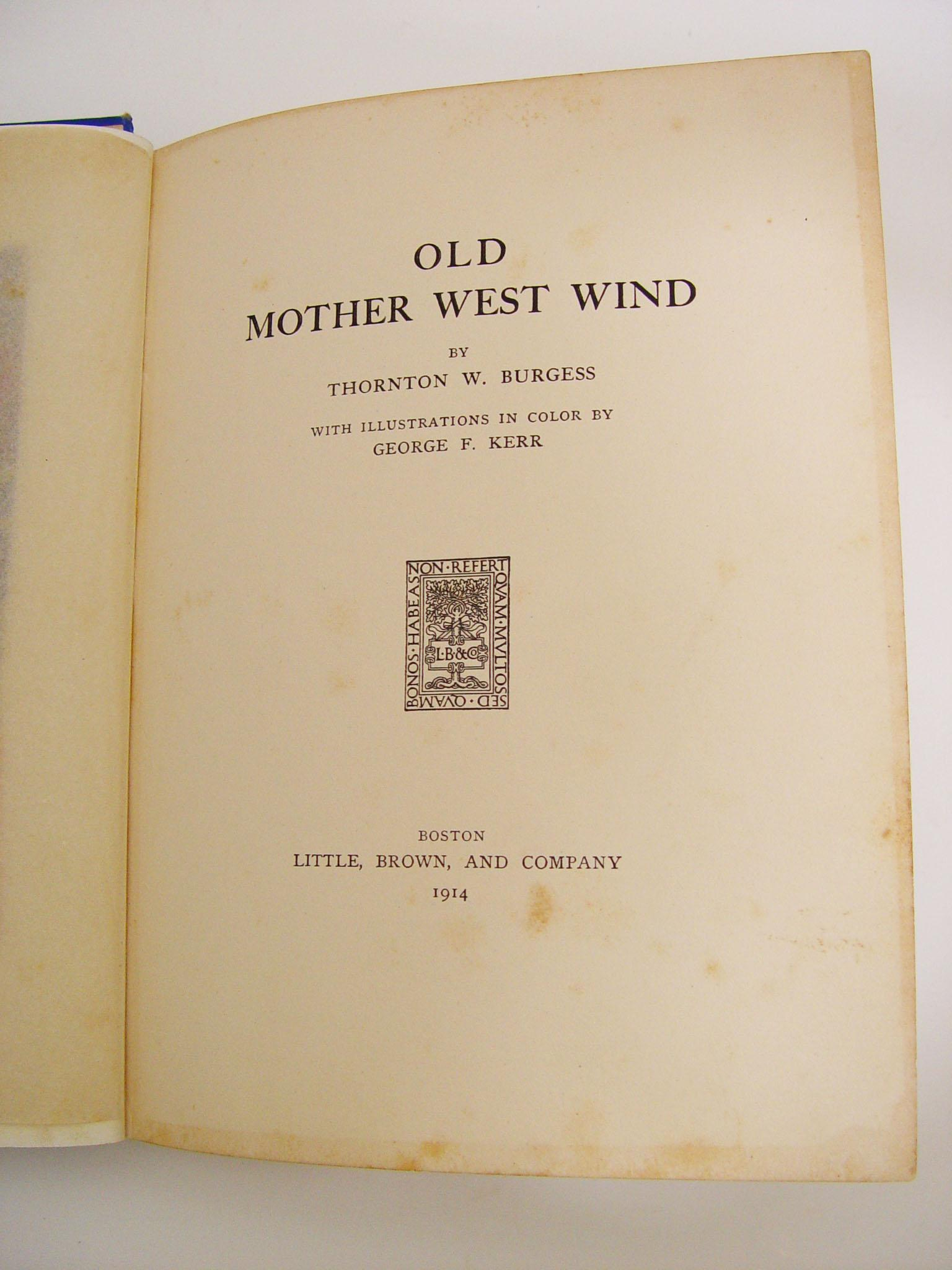Old Mother West Wind, 1914 | Chairish