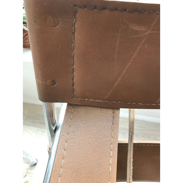 Vintage Wassily Brown Leather Chair - Image 9 of 10