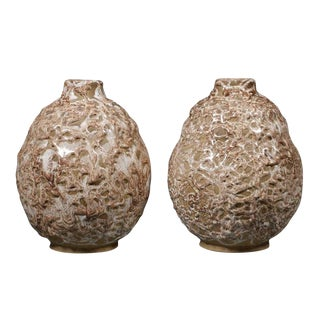 Pair of French Pottery Vessels For Sale