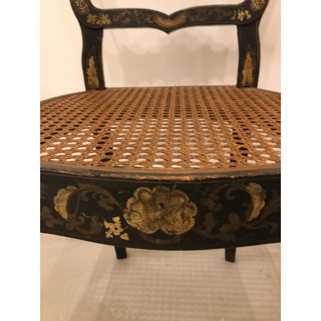 Textile Pair of French Chinoisere Chairs For Sale - Image 7 of 10