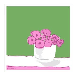 """""""Rose Vase in Green"""" By Dana Gibson, Framed Art Print For Sale"""