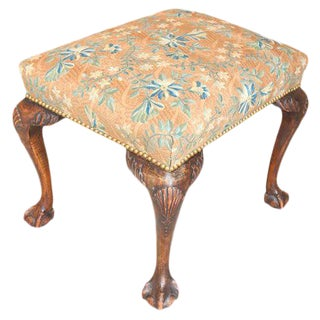 English Chippendale-Style Footstool For Sale