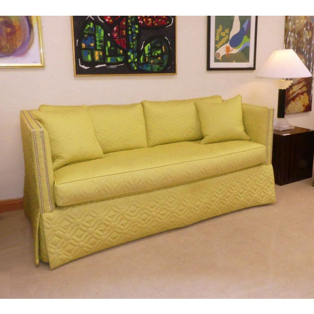 2010s Wesley Hall Contemporary Blake Sofa With Nailhead Trim For Sale - Image 5 of 11