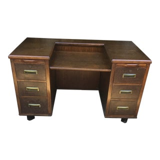 1990s Vintage Imperial Desk Company Partner Desk For Sale