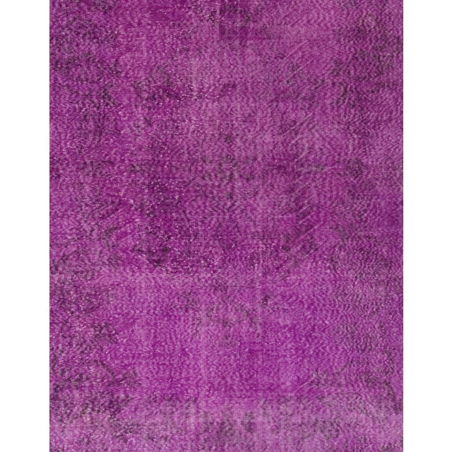 Turkish Vintage Over-Dyed Rug - 6′11″ × 10′4″ - Image 2 of 4