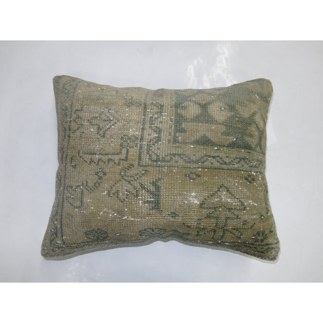 Mint Green Turkish Rug Pillow - Image 2 of 3