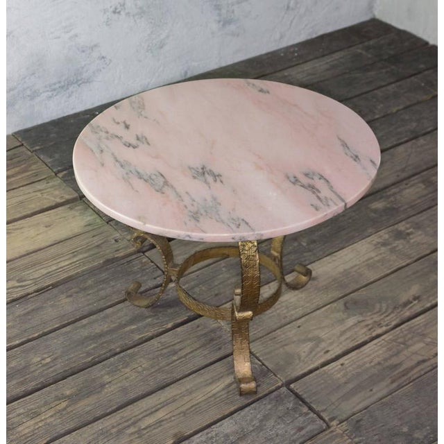 Small Round Coffee Table With Marble Top - Image 2 of 10