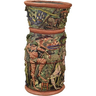 Monumental Art Pottery Figurative Mythical Vessel