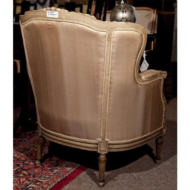 French Louis XVI Style Bergère Chairs - A Pair For Sale - Image 9 of 11