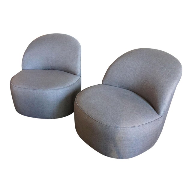 J. Robert Scott Swivel Chairs - Pair For Sale