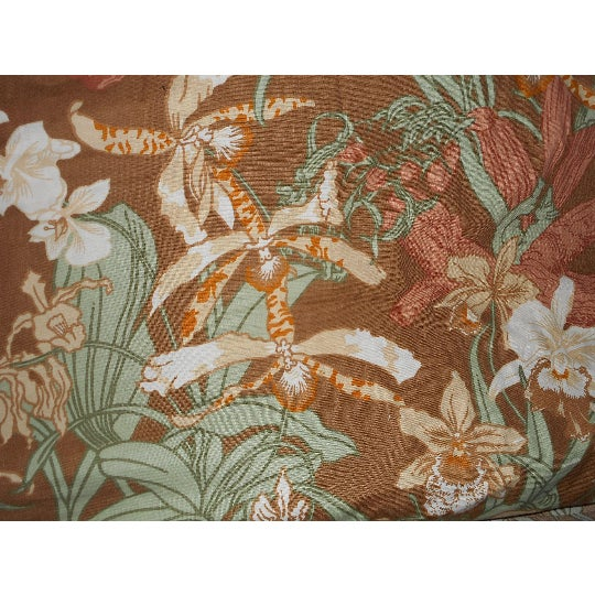 Mid-Century Modern Vintage Luther Travis Screen Print Home Decor Fabric, 1970s For Sale - Image 3 of 7