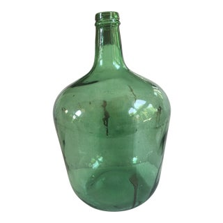 Antique French Green Demijohn For Sale