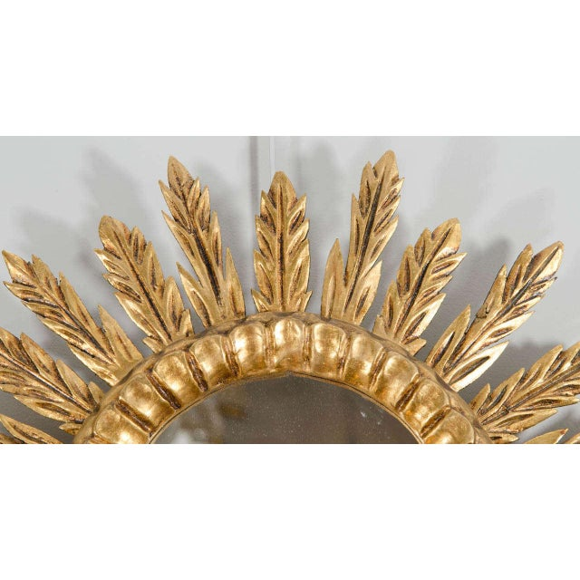 French Giltwood Sunburst Mirror For Sale - Image 3 of 4